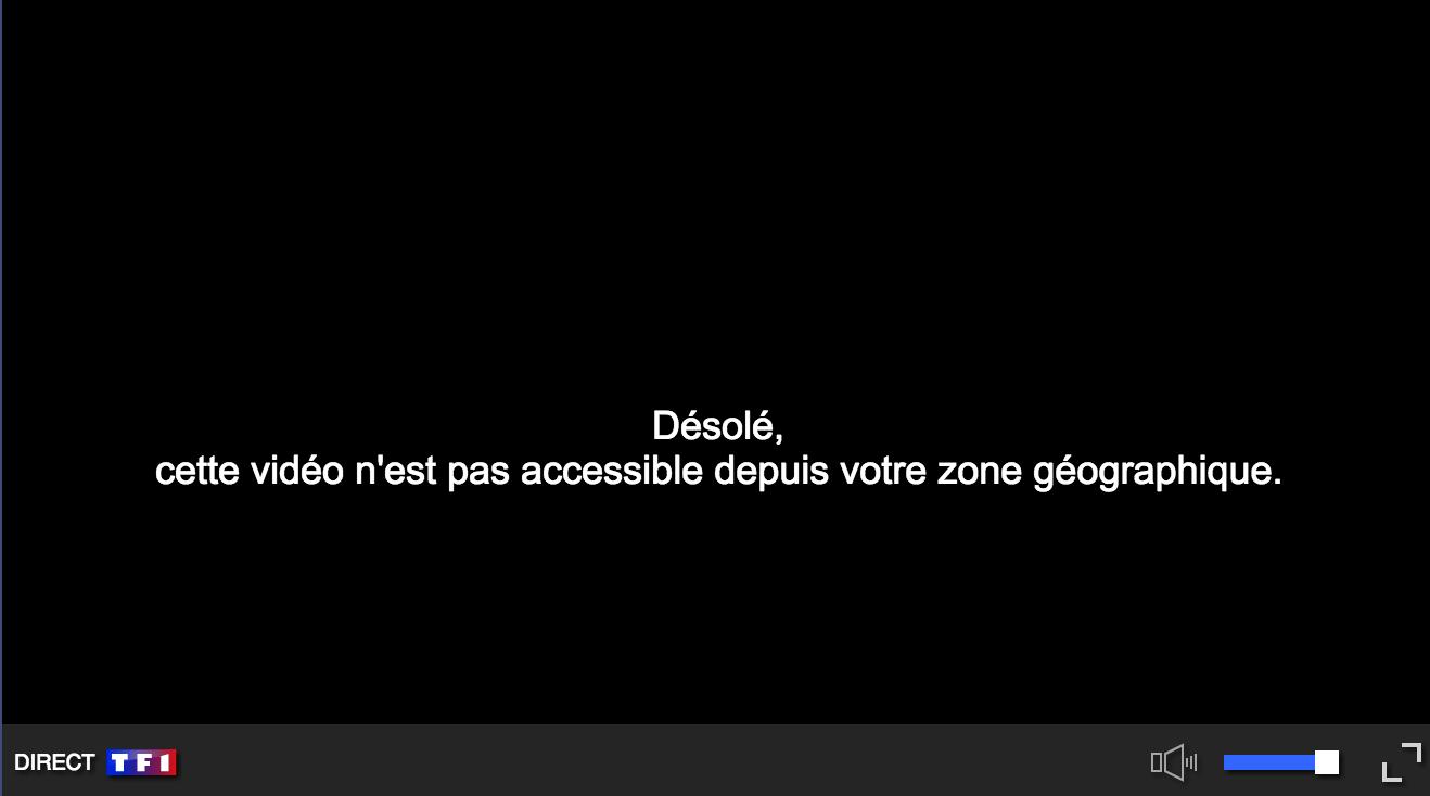 TF1 Bloqué étranger
