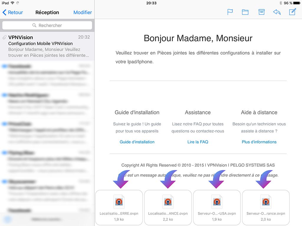 Installation VPN iOS OpenVPN - VPNVision
