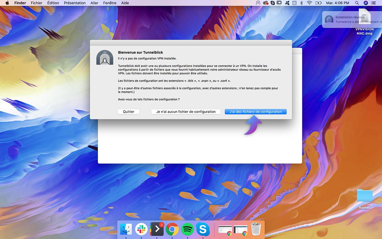 Installation VPN Mac   Tunnelblick - VPNVision